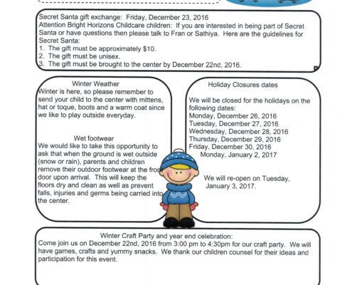 December News Letter