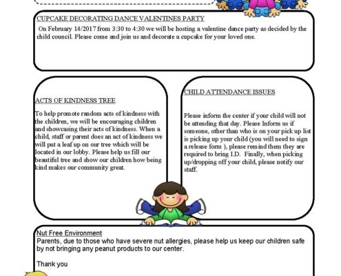 Feb Day Care News Letter